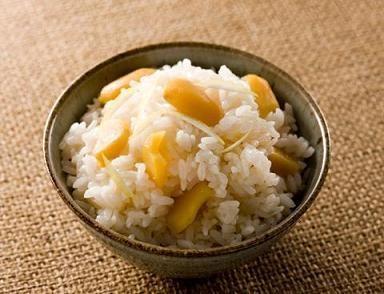 Arroz al sake con castañas