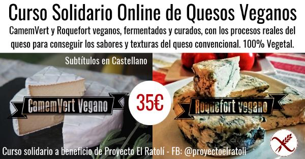 Curso de Quesos Veganos Online - CamemVert y Roqueforti