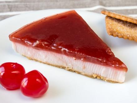 Tarta de yogur de frutos rojos